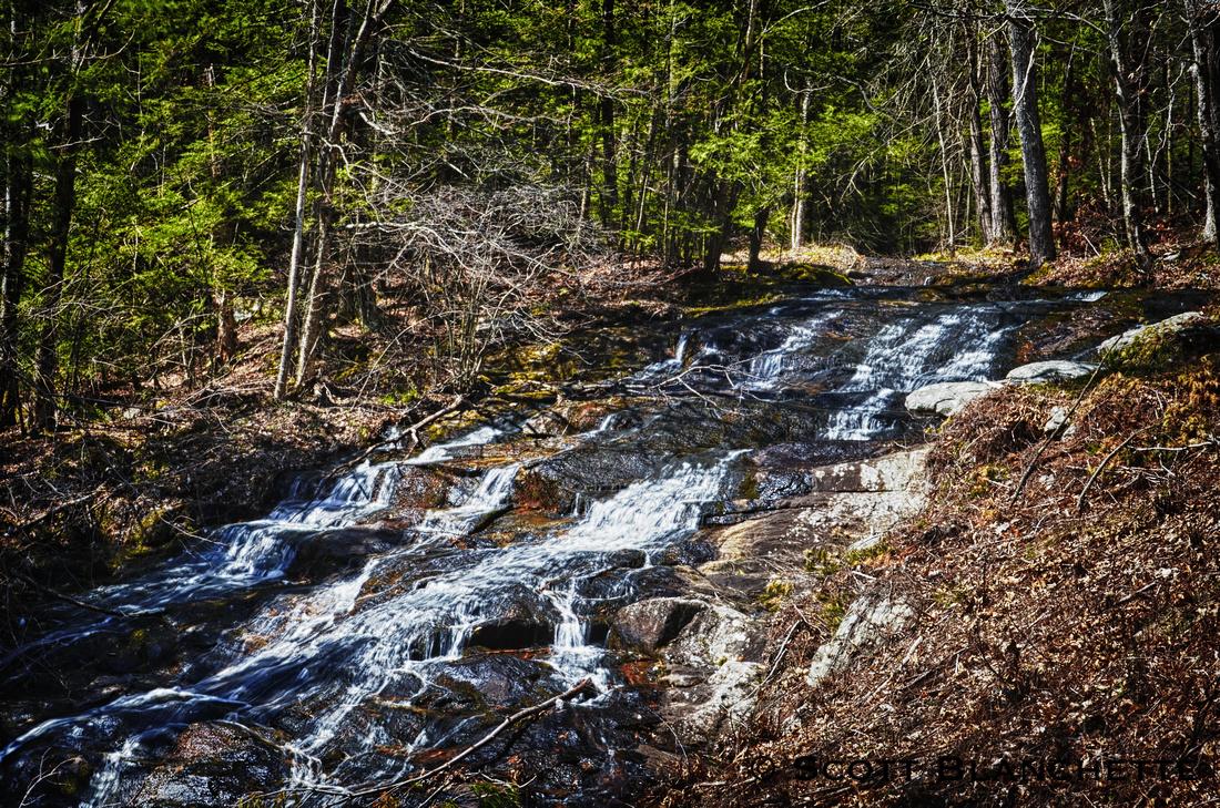 Borden Falls at Burr Pond State Park